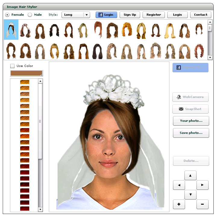 Virtual Hairstyler Online  how to use - Hairstyle Simulator